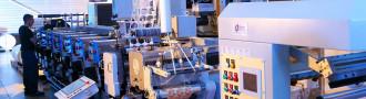 Chaine de production d'étiquettes industrielle